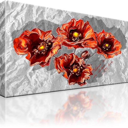 blume bild auf leinwand mit keilrahmen bilder wandbild ebay. Black Bedroom Furniture Sets. Home Design Ideas