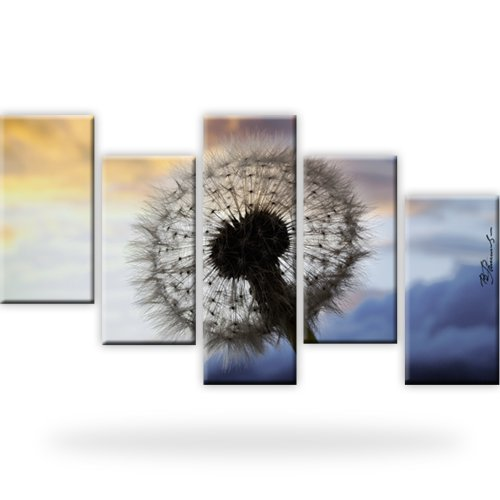 l wenzahn leinwand bild pusteblume xxl 175x100 cm ebay. Black Bedroom Furniture Sets. Home Design Ideas